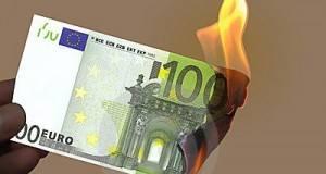 Burning-100-euros