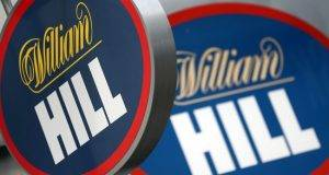 William Hill branded sign