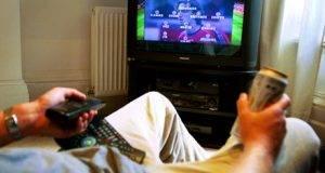 man watching football