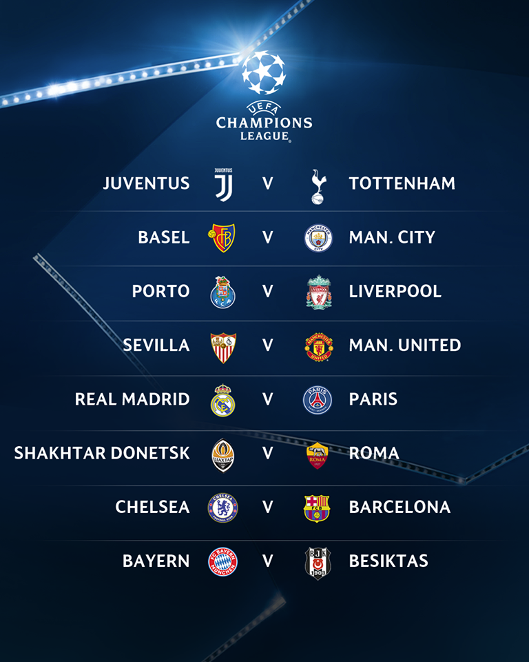 Jadwal Liga Champion 11 April 2018