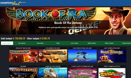 ChampionsBet.gr online casino online gambling Book of Ra video slots